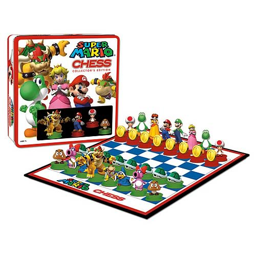 super mario chess set  Super Mario Chess Collectors Edition