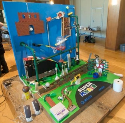 Super Mario Rube Goldberg Machine Wins Contest
