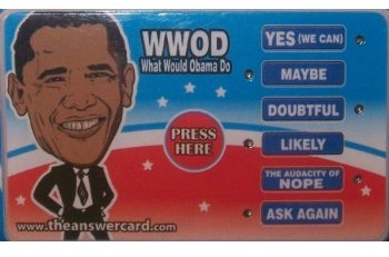 """What Would Obama Do?"" Electronic Decision Maker"