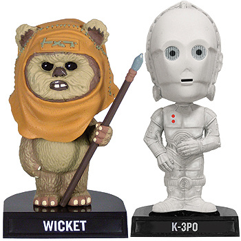 Wicket the Ewok Bobblehead (K-3PO too)