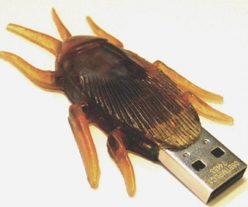 Cockroach USB Flash Drives: Bejeweled or Realistic