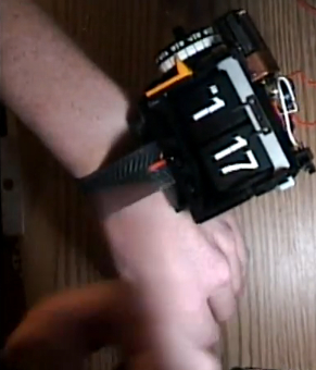 flip-clock-wristwatch