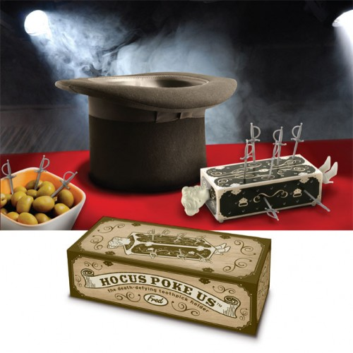Hocus Poke Us Swords Box Trick Toothpick Holder