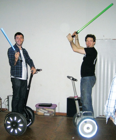 A Lightsaber Fight on Segways: Ultimate Nerdgasm