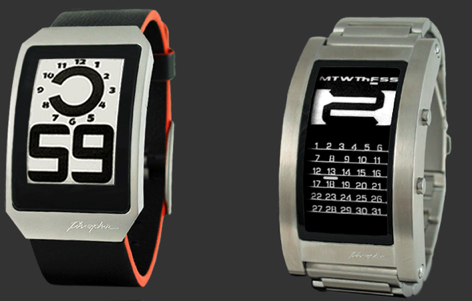 Phosphor Curved E-Ink Watch