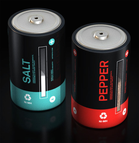 Battery Salt and Pepper Shakers (A-Salt and Battery)