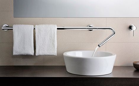 Towel Bar and Faucet Combination!