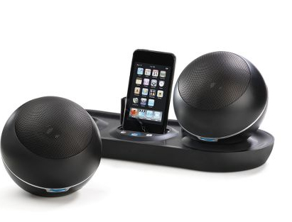 Wireless Spherical Speakers iPod Dock