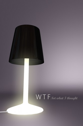 WTF Lamp has a Twist