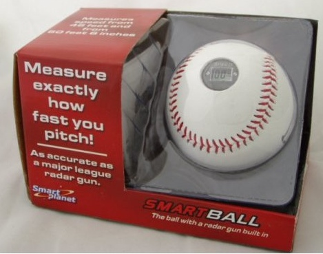 Baseball with Built in Radar Gun Tells How Fast You Pitch