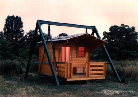 cabin-on-a-swing