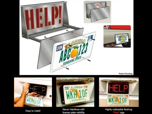 Help Alerter LED License Plate Roadside Assistance Requester