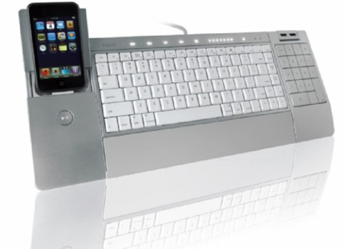 iHome iConnect Keyboard with iPod Dock Looks Pretty iSweet