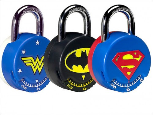 Superhero Locks Keep Your Stuff Safe from Villains