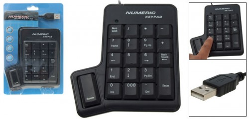 Numeric Keypad with a Spacebar