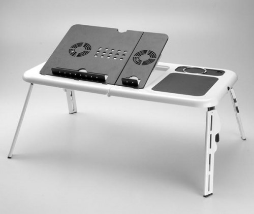 Lap Desk with Notebook Computer Cooling Fan