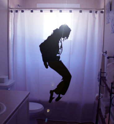 michael jackson shower curtain 10 Very Strange Michael Jackson Items