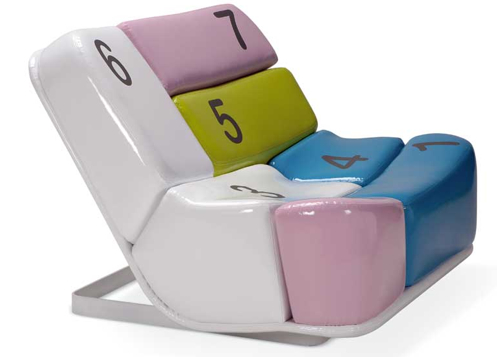 Keyboard Numbers Chair