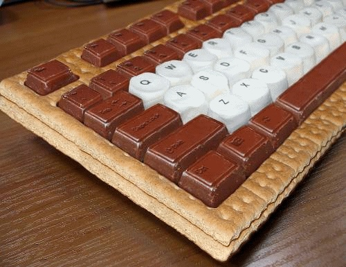 smores keyboard SMores Keyboard Looks Delicious