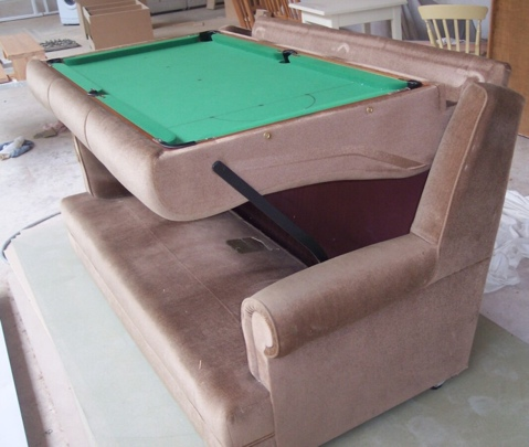 sofa snooker table Convertible Sofa Turns into a Snooker Table