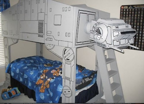 Dad Builds Son AT-AT Imperial Walker Bed, Shames All Other Dads