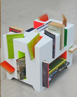 Book Porcupine is a Unique Bookshelf