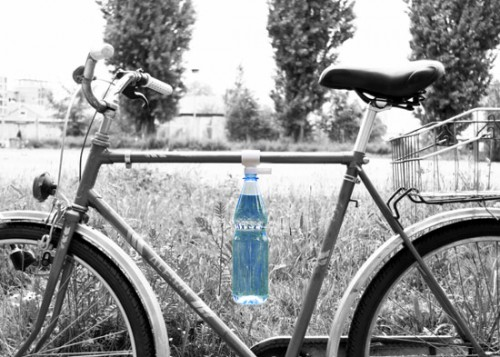 Bottle Clip Attaches a Water Bottle to your Bicycle Frame