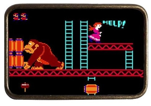 donkey kong belt buckle