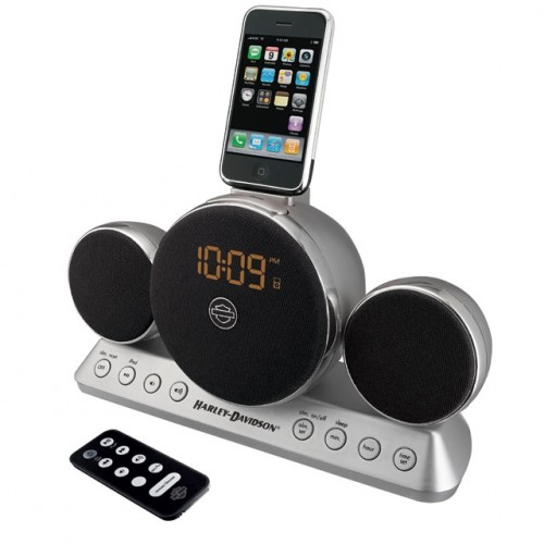 iHome Harley Davidson Headlight Stereo Speaker System with Alarm Clock