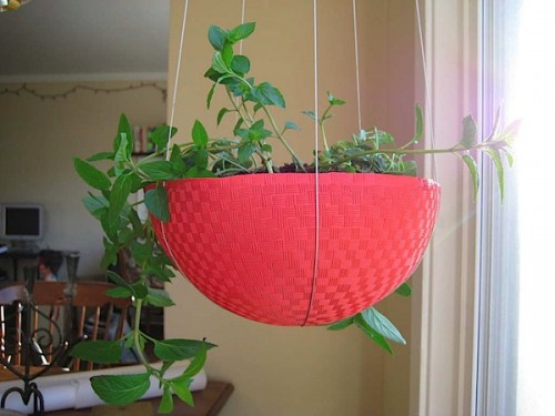 Kickball Hanging Planter