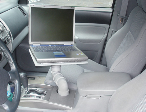 DIY PVC Pipe Car Cupholder Laptop Tray