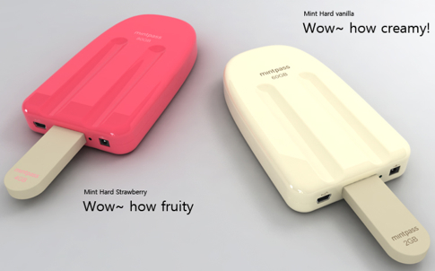 External Hard Drive in the Shape of an Ice Cream Popsicle