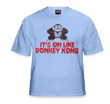 on like donkey kong shirt