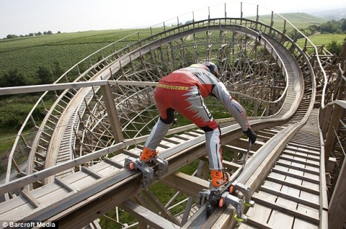 Rollerblade Rollercoaster is Really Radically Ridiculous