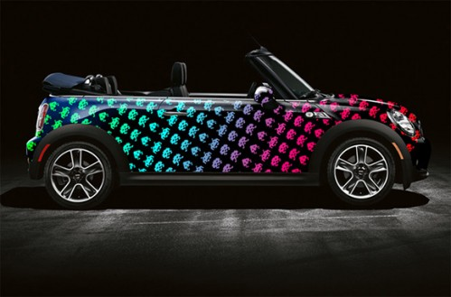 Space Invaders and Pac-Man Mini Cooper Art Cars