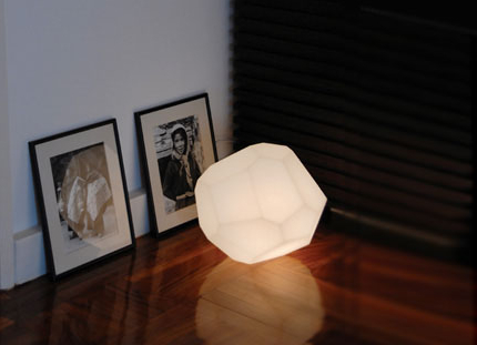 asteroid lamp sitting