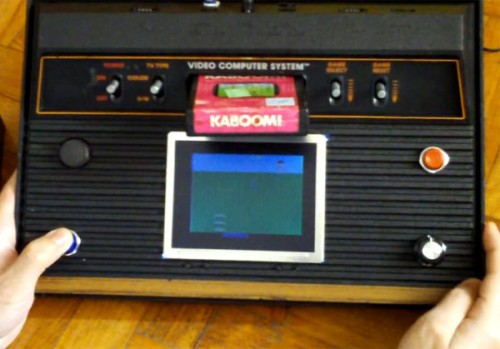 Atari 2600 Mod with Built in Screen on Console