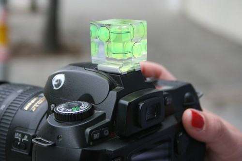 Camera Cube Bubble Level Keeps Your Shots Square