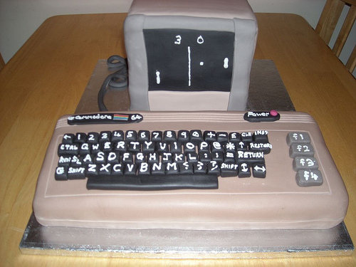 commodore 64 cake