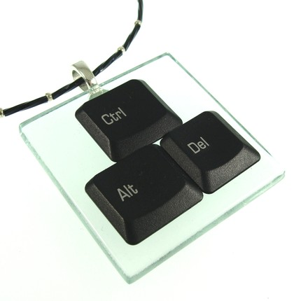 Ctrl Alt Delete Pendant is UberNerdy