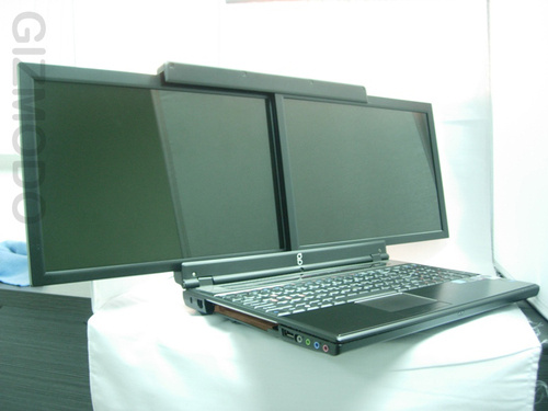 dual screen laptop Pinboard