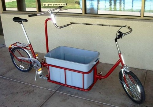 Grocery Getter Bicycle Converts from Bike to Shopping Cart