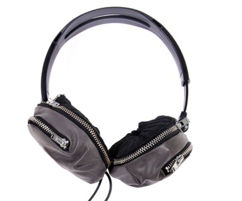 Headphones with a Zippered Pocket