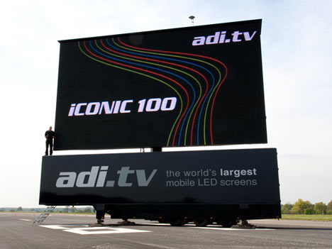 48 Foot Diagonal HD Television is World's Largest Portable LED Screen