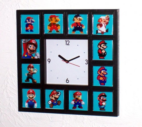 Darwinism FTW: Mario Evolution Wall Clock