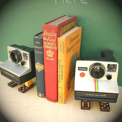 polaroid bookends