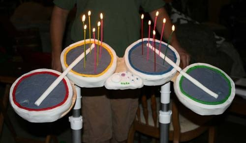 Rock Band Drum Set Cake Totally Rocks