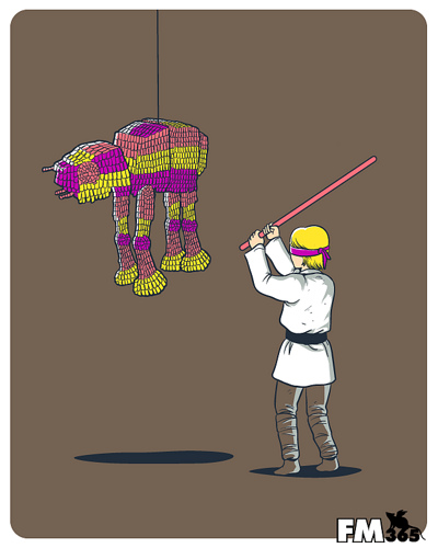 Luke vs. AT-AT Pinata