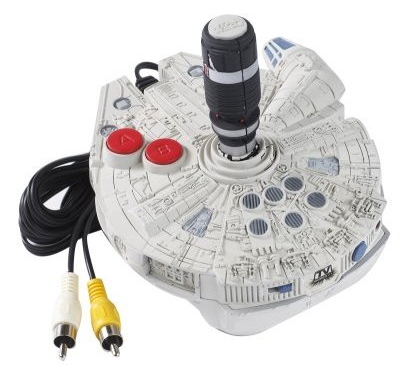 Millennium Falcon Joystick comes with the Star Wars Trilogy TV Game