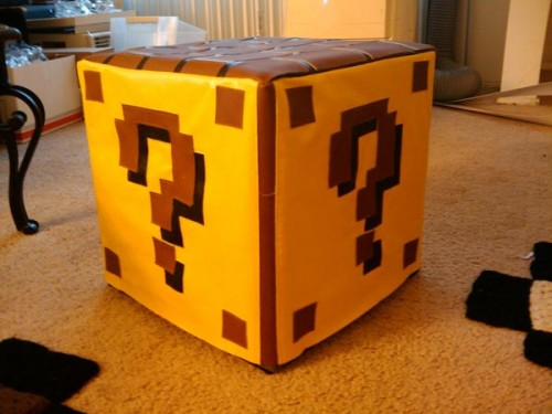 Super Mario World Question Mark Ottoman